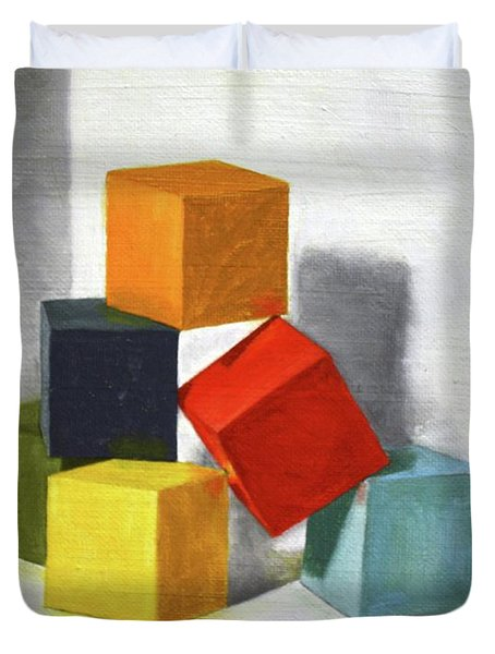 Colorful Blocks Duvet Cover