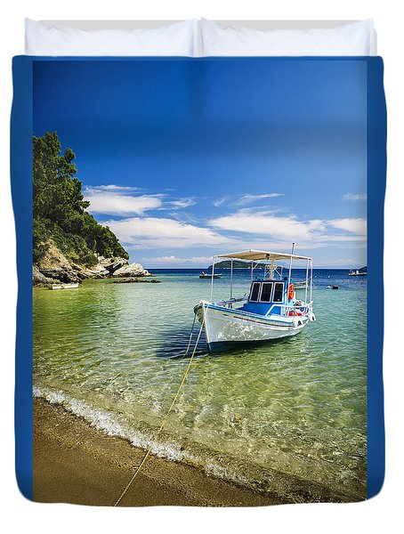 Colorful Boat Duvet Cover