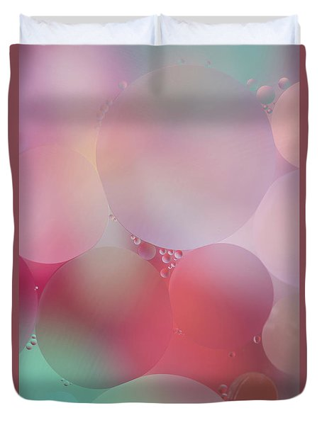 Duvet Cover featuring the photograph Colorful Bubbles 2 by Elena Nosyreva