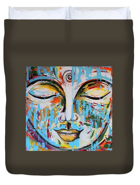 Colorful Buddha Duvet Cover