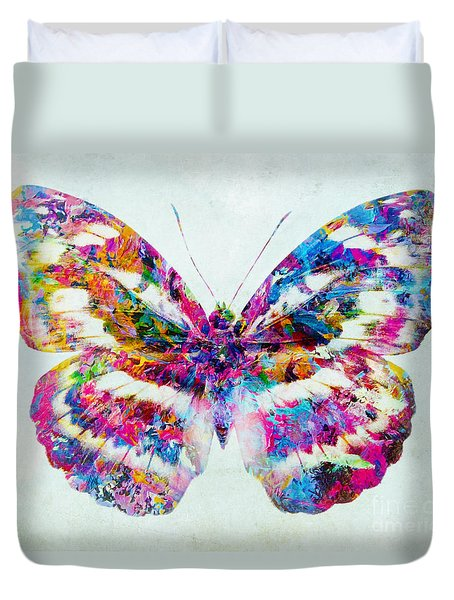 Colorful Butterfly Art Duvet Cover