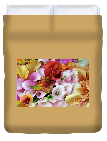 Colorful Calla Lilies Duvet Cover