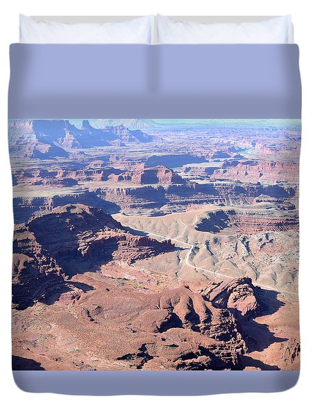 Duvet Cover featuring the photograph Colorful Canyonlands by Anne Mott