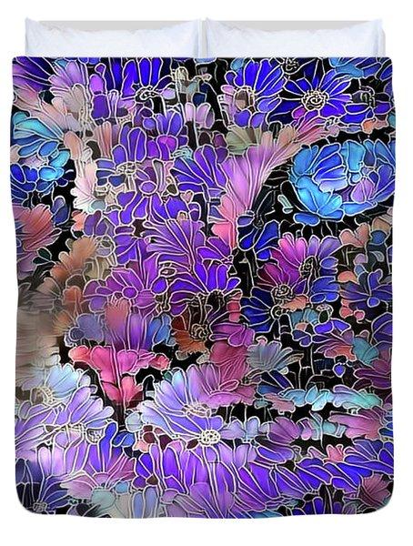 Flower Cat 2 Duvet Cover