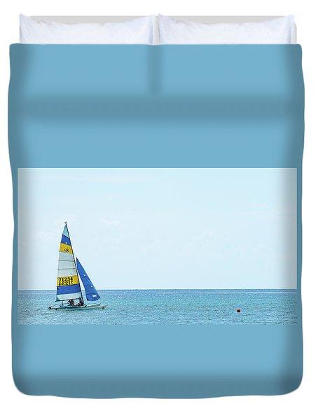 Colorful Catamaran 3 Delray Beach Florida Duvet Cover