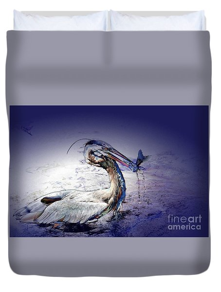 Colorful Catch Duvet Cover