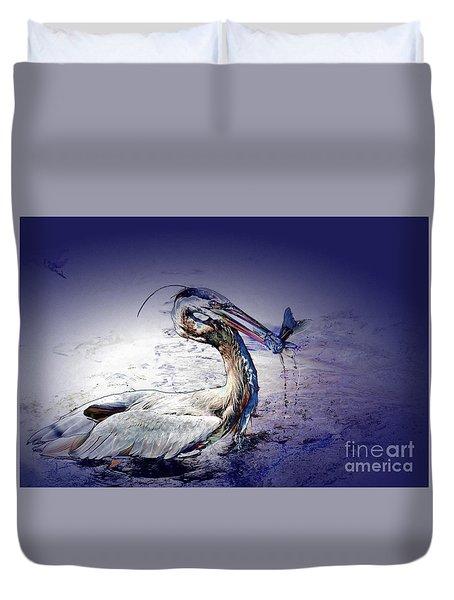 Colorful Catch Duvet Cover by Pamela Blizzard