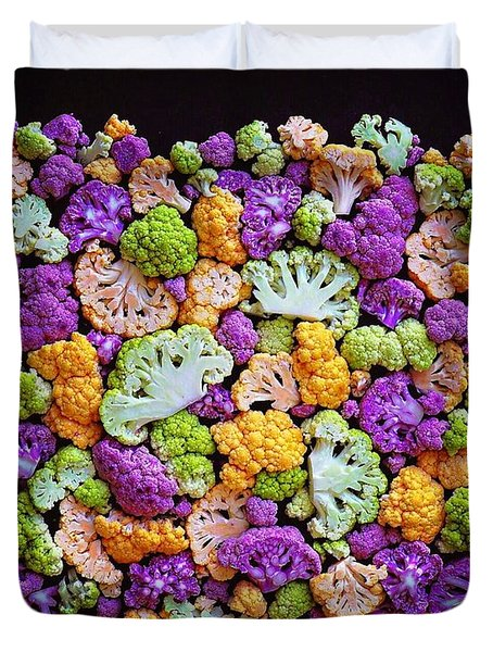 Colorful Cauliflower Mosaic Duvet Cover
