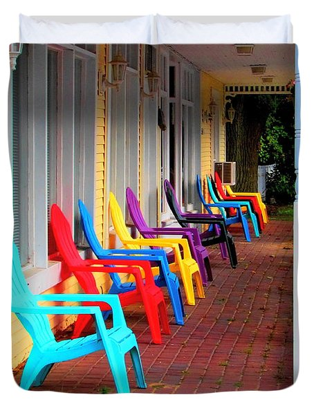 Colorful Chairs Duvet Cover