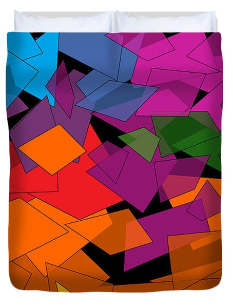 Colorful Chaos Too Duvet Cover