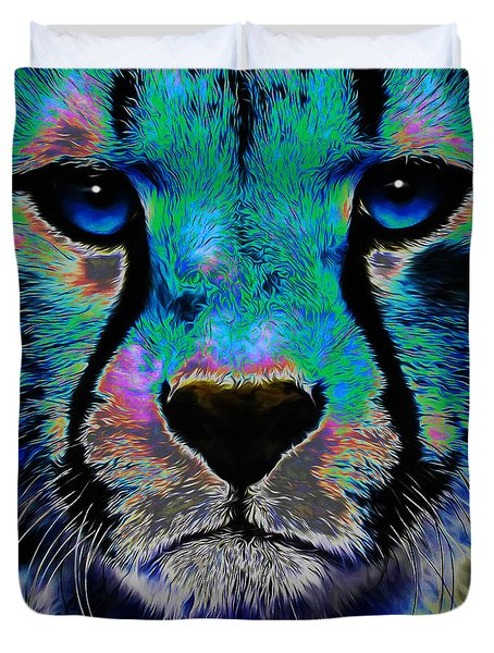 Colorful Cheetah Duvet Cover