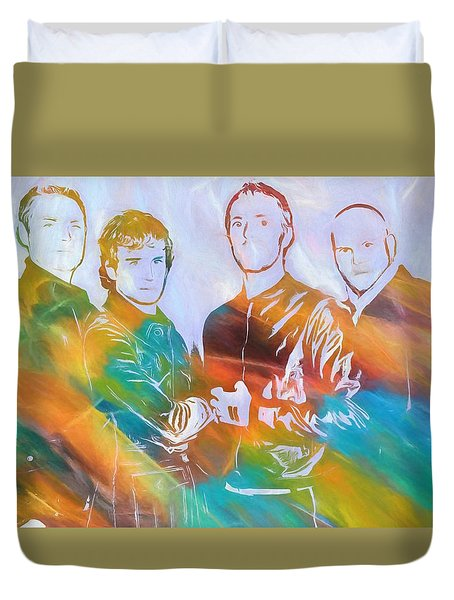 Colorful Coldplay Duvet Cover