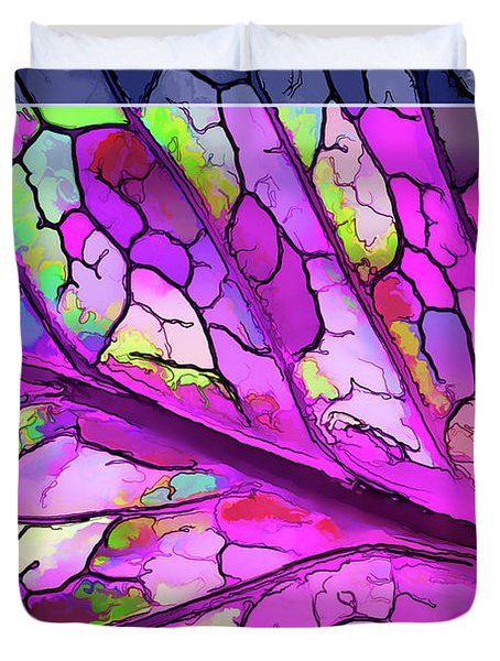 Colorful Coleus Abstract 3 Duvet Cover