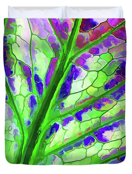 Colorful Coleus Abstract 4 Duvet Cover