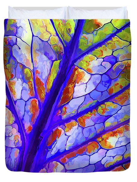 Colorful Coleus Abstract 6 Duvet Cover