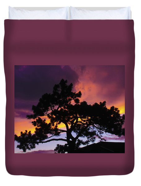 Colorful Colorado Sunset Duvet Cover