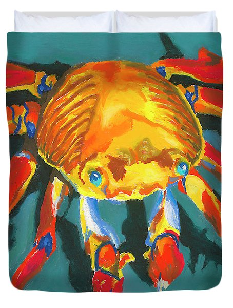 Colorful Crab II Duvet Cover by Stephen Anderson