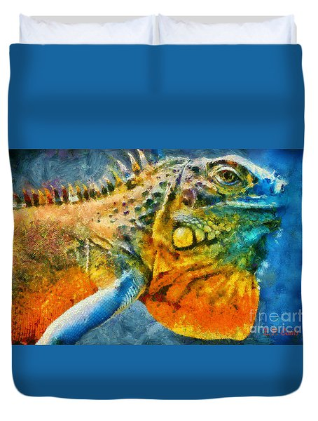 Colorful Creature  Duvet Cover