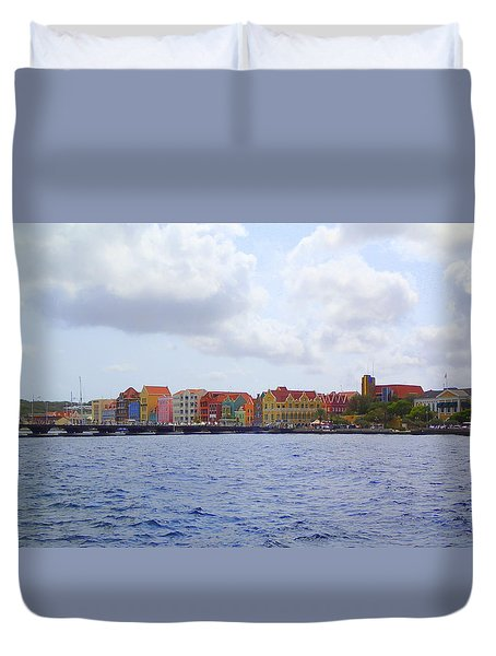 Colorful Curacao Duvet Cover by Lois Lepisto