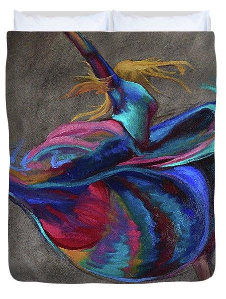 Colorful Dancer Duvet Cover