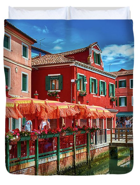Colorful Day In Burano Duvet Cover
