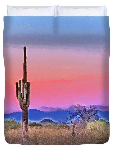 Colorful Desert Duvet Cover