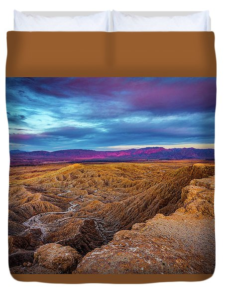 Colorful Desert Sunrise Duvet Cover