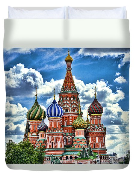 Colorful Domes Duvet Cover