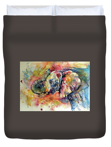 Colorful Elephant II Duvet Cover