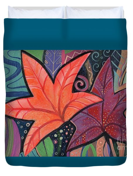 Colorful Fall Duvet Cover