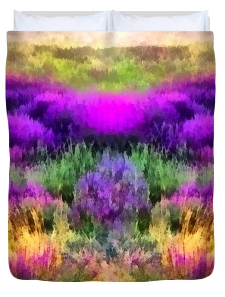 Colorful Field Of A Lavender Duvet Cover
