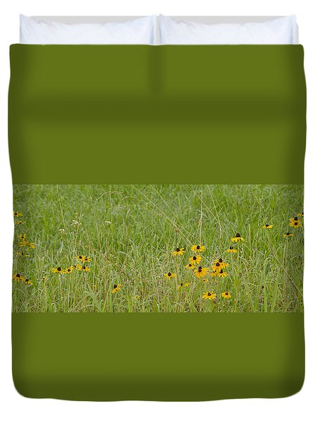 Colorful Field Duvet Cover by Wanda Krack