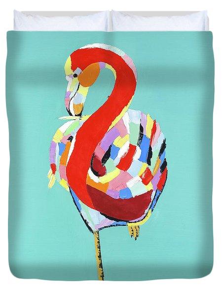 Colorful Flamingo Duvet Cover