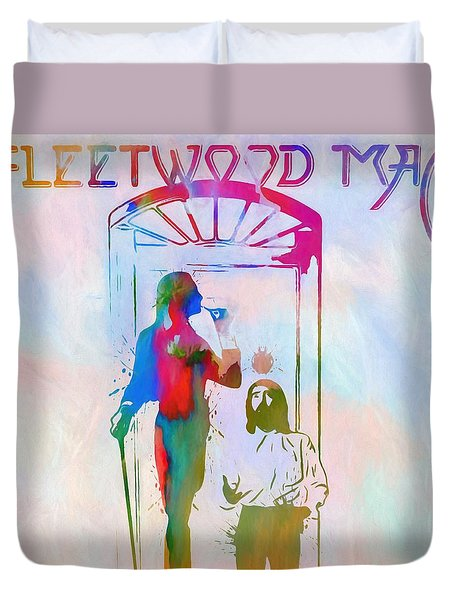 Colorful Fleetwood Mac Cover Duvet Cover