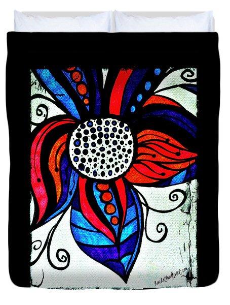 Colorful Flower Duvet Cover