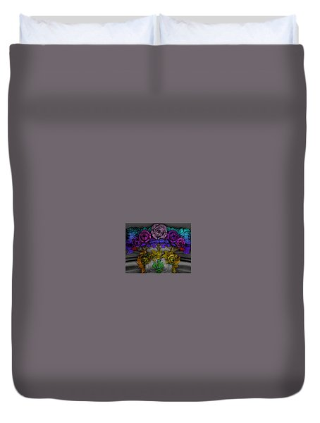 Colorful Flowers Duvet Cover