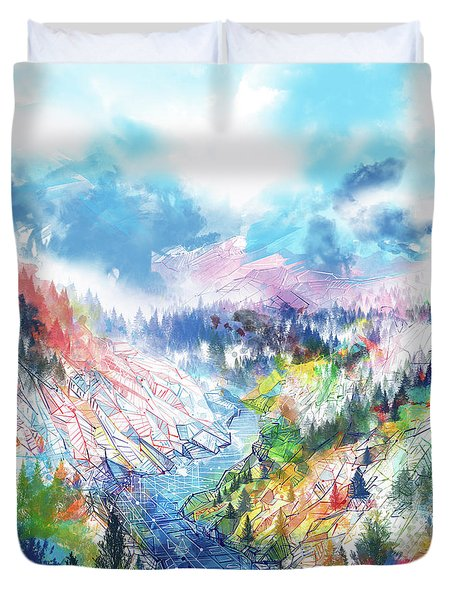 Colorful Forest 5 Duvet Cover