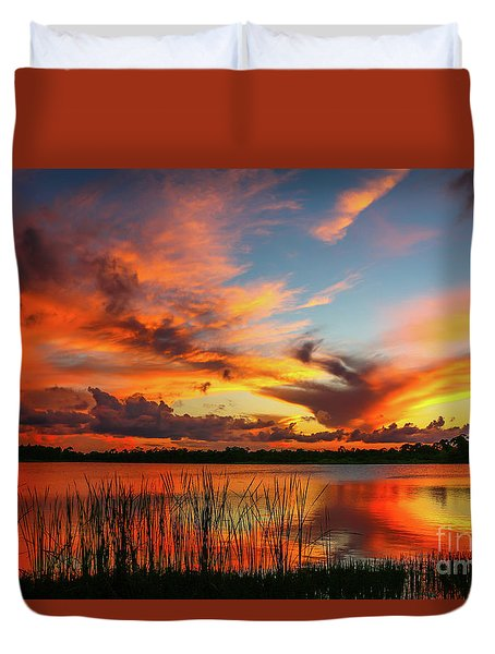 Colorful Fort Pierce Sunset Duvet Cover
