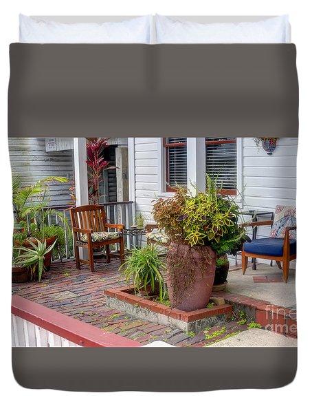 Colorful Front Porch Patio Duvet Cover