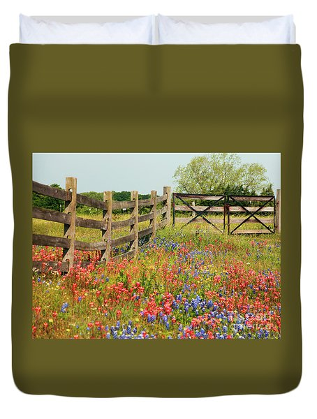 Colorful Gate Duvet Cover
