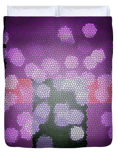 Colorful Geometric Mosaic Abstract  Duvet Cover