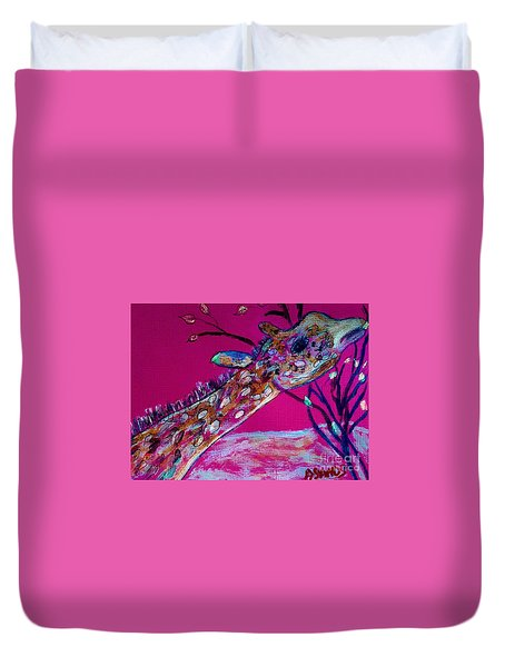 Colorful Giraffe Duvet Cover
