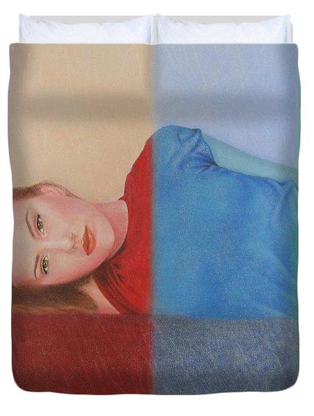 Colorful Girl Duvet Cover