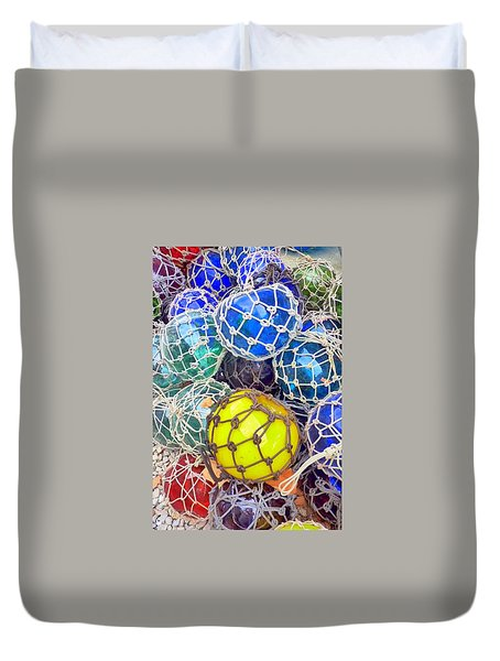 Colorful Glass Balls Duvet Cover