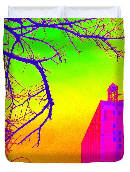 Dallas In Vivid Colors Duvet Cover