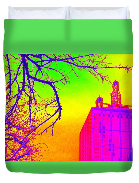 Dallas In Vivid Colors Duvet Cover