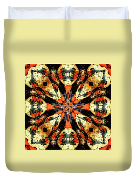 Colorful Gourds Abstract Duvet Cover by Smilin Eyes  Treasures