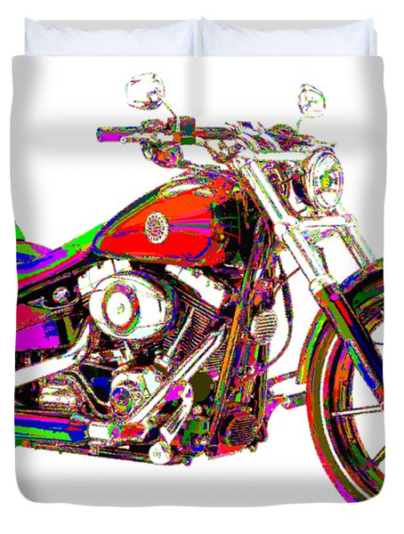 Colorful Harley-davidson Breakout Duvet Cover