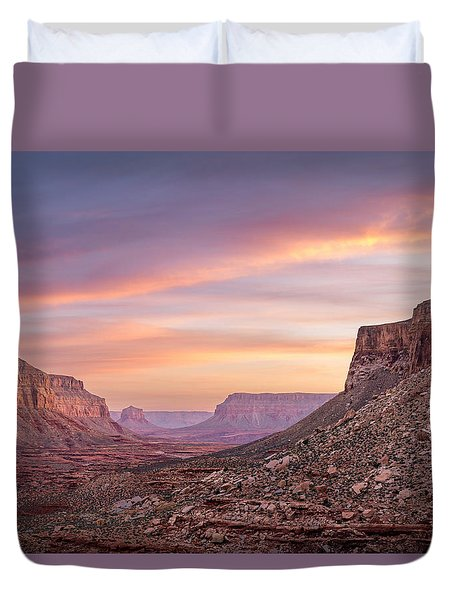 Colorful Havasupai Hike Duvet Cover