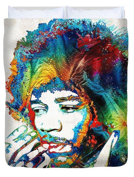 Colorful Haze - Jimi Hendrix Tribute Duvet Cover